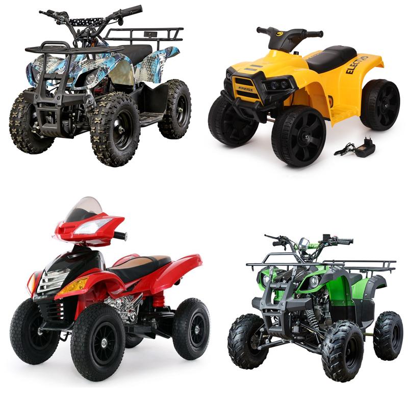 электрические и бензиновые детские квадроциклы