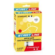 Набор шариков настольного тенниса Start-line STANDART 2 - 6 мячей, фото 1