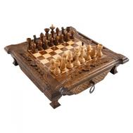 Шахматы резные в ларце 50, Haleyan, фото 1