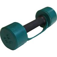 Гантель обрезиненная с обрезиненной ручкой 3 кг, цветная MB-FitC-3, фото 1