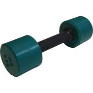 Гантель обрезиненная с обрезиненной ручкой 4 кг, цветная MB-FitC-4, фото 1