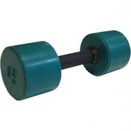 Гантель обрезиненная с обрезиненной ручкой 6 кг, цветная MB-FitC-6, фото 1