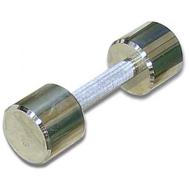 Гантель хромированная для фитнеса 5 кг MB-FitM-5, фото 1
