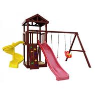 Детская уличная площадка - IGRAGRAD CLASSIC ПАНДА ФАНИ + винтовая горка, фото 1