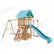 Игровая площадка BABYGARDEN с рукоходом, закрытым домиком, скалолазкой и горкой 2.4 м, фото 1