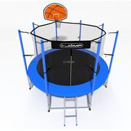 Уличный батут с сеткой - i-JUMP BASKET 6FT BLUE, баскетбольное кольцо, фото 1