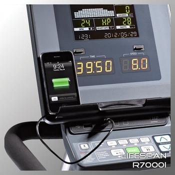 Горизонтальный электромагнитный велотренажёр LIFESPAN R7000i, фото 7