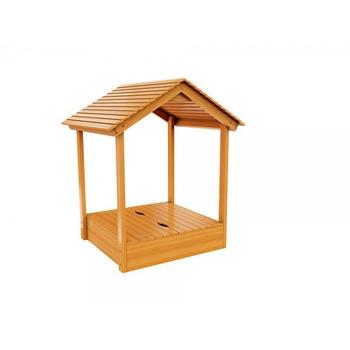 Деревянная песочница IGRAGRAD с крышей, фото 2