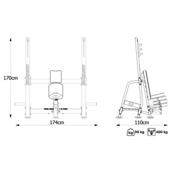 Скамья для жима вертикальная Marbo Sport MP-L209, фото 4