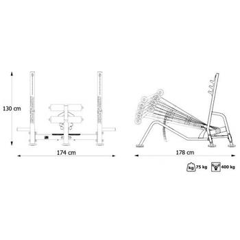 Скамья для жима (с отрицательным наклоном) Marbo Sport MP-L208, фото 9